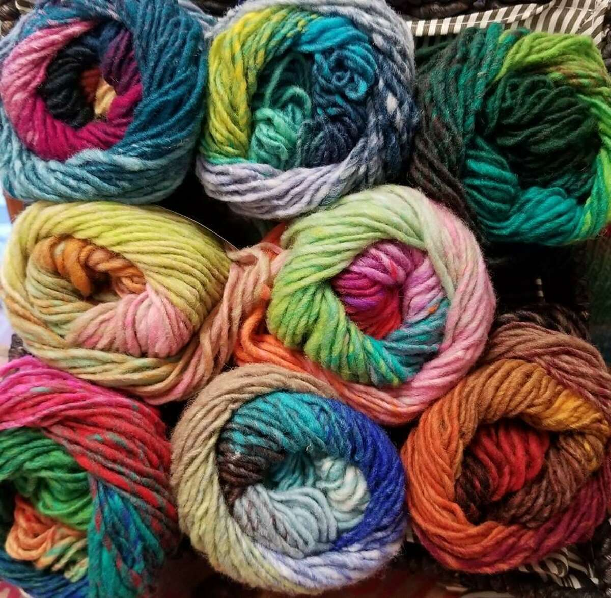 There's no end to the amount of yarn a knitter can collect.