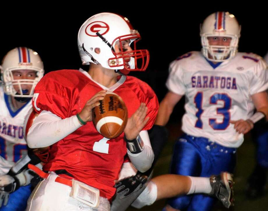 Guilderland's Ryan Smith throws the ball against Saratoga. (Hans Pennink/Special to the Times Union) Photo: Hans Pennink
