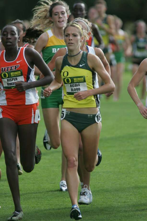 Saratoga Springs' Nicole Blood, a senior at the University of Oregon, is the Pac-10 individual cross country champion. (Courtesy University of Oregon).
