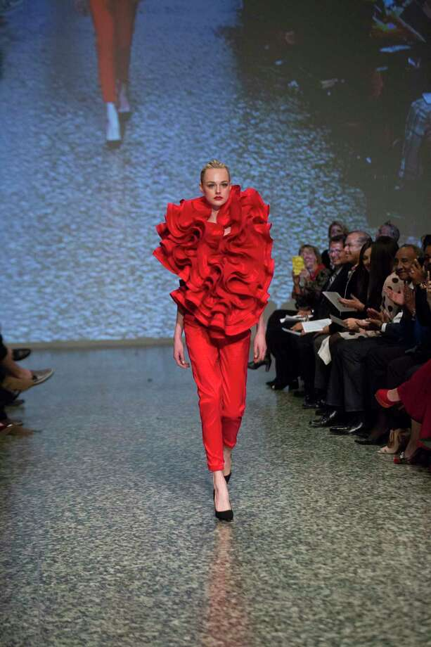 Design by Ebonie Sophus called Oscar de las Ruffles at the Fashion Fusion 2018, Thursday, Jan. 11, 2018, in Houston. Photo: Marie D. De Jesus, Houston Chronicle / © 2018 Houston Chronicle
