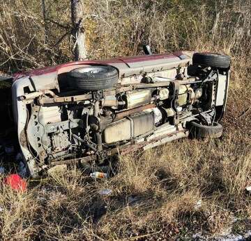 Fulshear driver's vehicle flips off road after passing icy bridge
