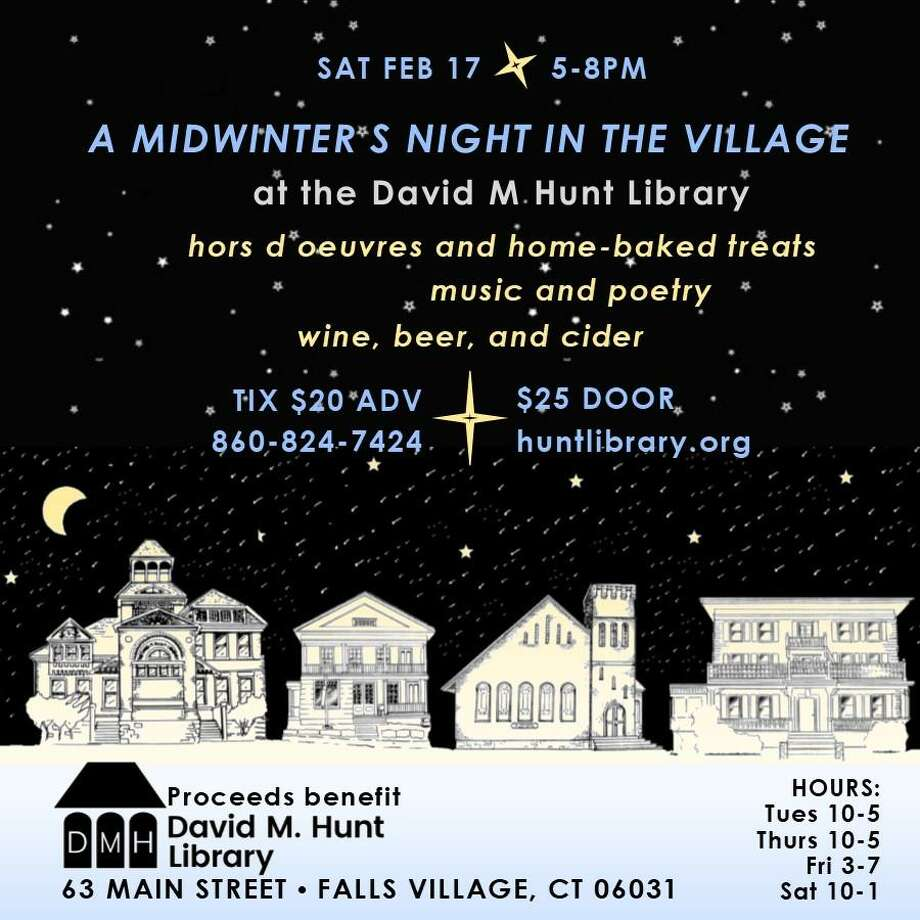 The David M. Hunt Library wil hold its annual midwinter fundraiser on Feb. 17. Photo: Contributed Photo