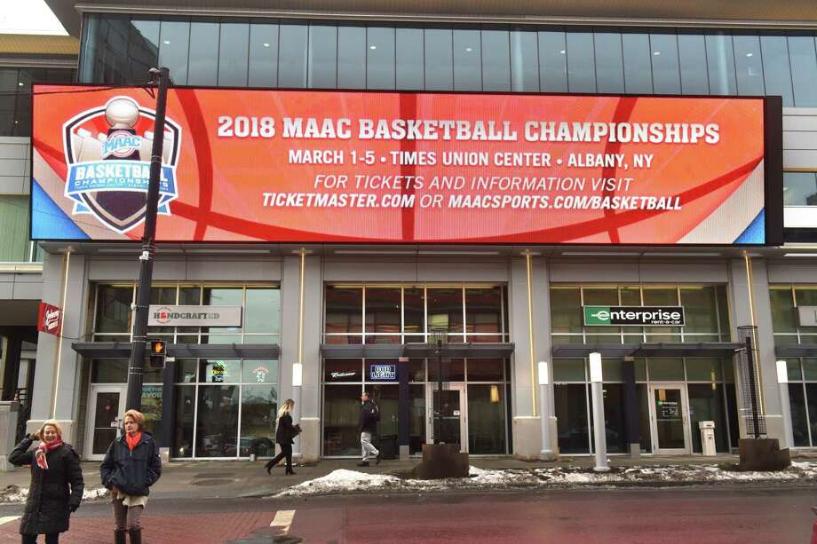 Outside LED screens will be able to show video and audio of games as part of the new renovations at the Times Union Center on Thursday, Jan. 11, 2018 in Albany, N.Y. (Lori Van Buren/Times Union) Photo: Lori Van Buren / 20042641A