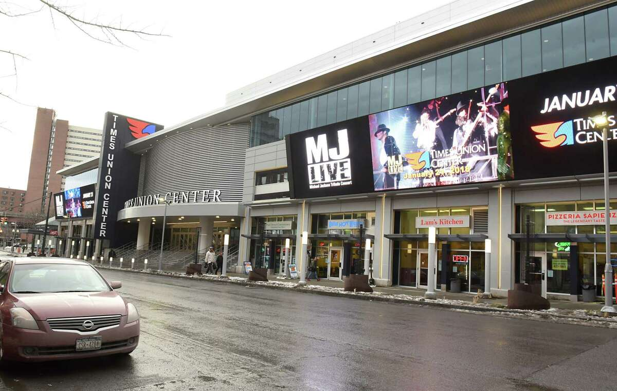 Outside LED screens will be able to show video and audio of games as part of the new renovations at the Times Union Center on Thursday, Jan. 11, 2018 in Albany, N.Y. (Lori Van Buren/Times Union)