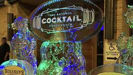 An elaborate ice sculpture at the front doors of the Villita Assembly Hall announced the inaugural Cocktails Under the Sea event at the San Antonio Cocktail Conference.