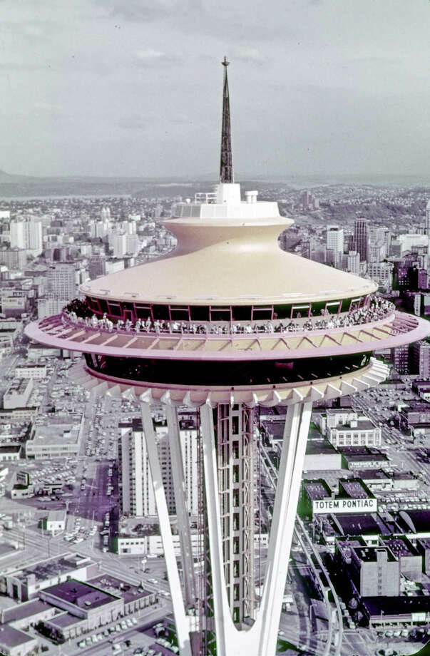 Century 21 / Close Up of Eye of [Space] Needle. Eastman Color Film. [Seattle World's Fair] Date: 1962. Item No: 73121 Photo: Courtesy Of The Seattle Municipal Archives