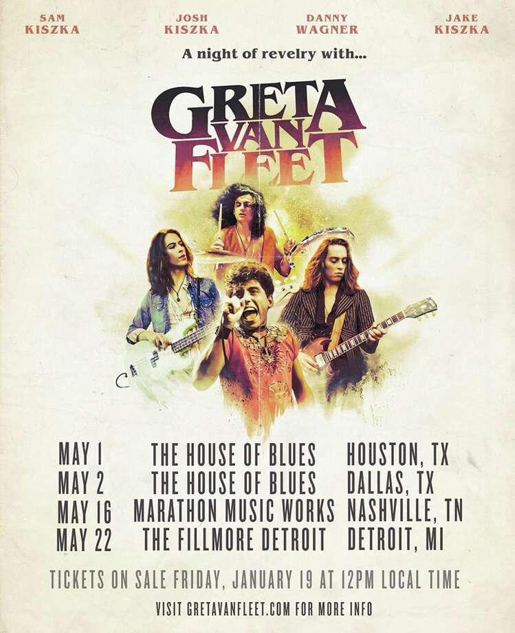 Tickets go on sale at noon Friday, Jan. 19, for Greta Van Fleet's Detroit performance in May.   Photo: Greta Van Fleet