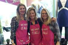 Chou Chou store owner Katharine Sanford with her daughters Katie Senter (left) and Lily Sanford (right).