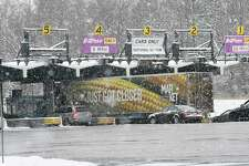 Cars and trucks pass through the I-87/ I-90 exit 24 toll booths on Wednesday, Jan. 17, 2018 in Albany, N.Y. (Lori Van Buren/Times Union)