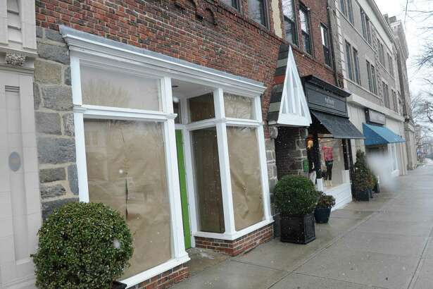 The former Kate Spade location at 271 Greenwich Ave. in Greenwich, Conn. is permanently closed Wednesday, Jan. 17, 2018.