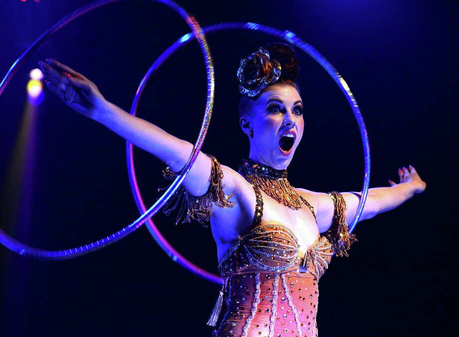 """The Bayou City Burlesque and Circus Arts Festival will feature acrobats, showgirls, trapeze performers and a chorus line of """"H-Town Clowns"""" Saturday at Warehouse Live. Photo: Darrell Miller Photography"""