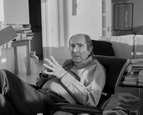 """The author Philip Roth, at home in Manhattan's Upper West Side, Jan. 5, 2018. Roth stopped writing about seven years ago, and now reads, mainly American history and modern European history. """"Reading has taken the place of writing, and constitutes the major part, the stimulus, of my thinking life,"""" Roth said. Photo: Philip Montgomery For The New York Times"""