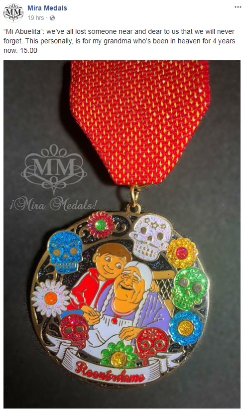 Fiesta Medal That Appears Themed After The Hit Movie Coco