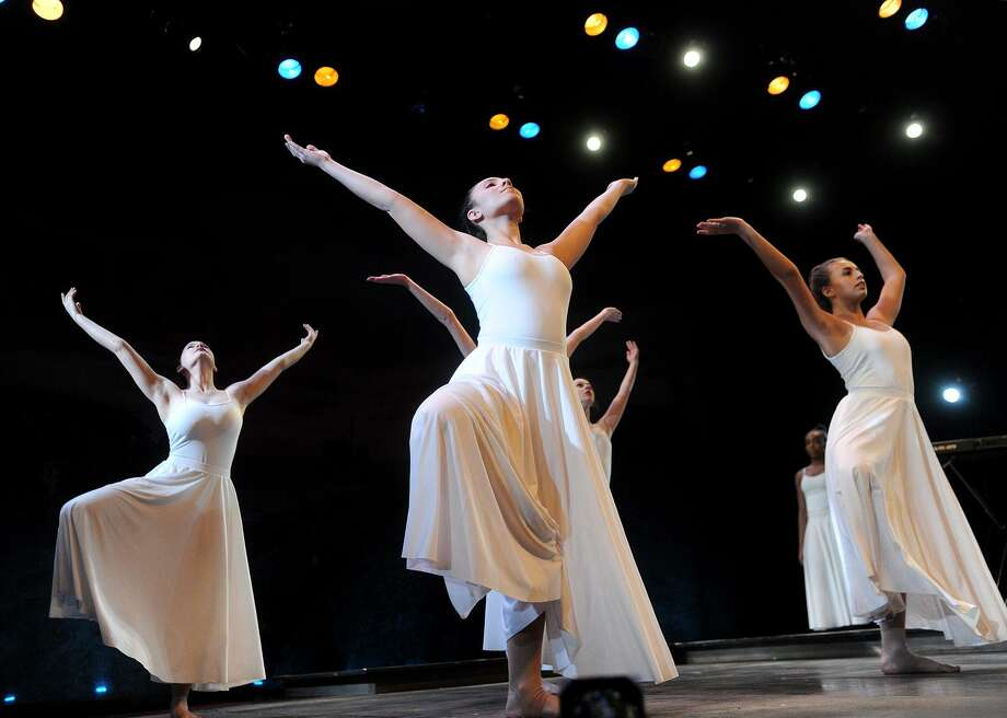 "Students from the Regional Center for the Arts perform a choreographed dance at the 12th Annual Dr. Martin Luther King, Jr. Celebration at the Westport Country Playhouse in Westport, Conn. on Sunday, January 14, 2018. The guest speaker was American University Professor Ibram Kendi, whose address was titled ""How to be an Anti-Racist"". Photo: Brian A. Pounds / Hearst Connecticut Media / Connecticut Post"