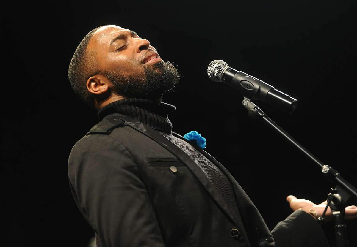 Chris Coogan and the Good News Gospel Choir performs at the 12th Annual Dr. Martin Luther King, Jr. Celebration at the Westport Country Playhouse in Westport, Conn. on Sunday, January 14, 2018.