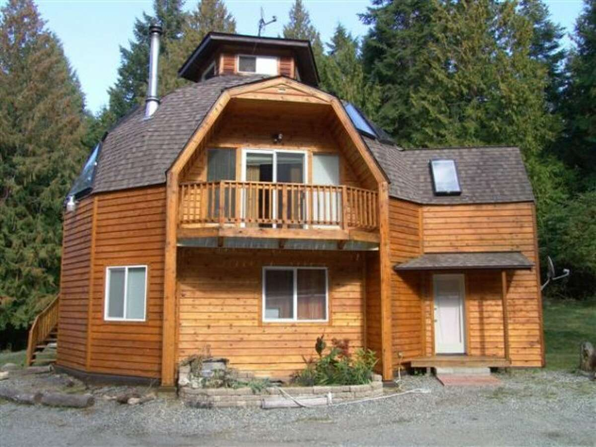 This home on San Juan Island at 183 Limestone Point Rd. is listed for $525,000. The five-acre property features the main residence, a smaller done home and a small shed.