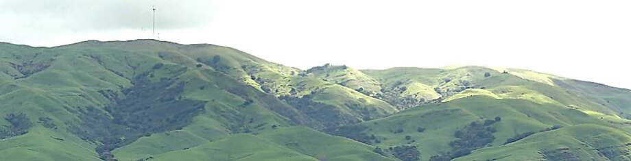 Monument Peak at Ed Levin County Park rises 2,594 feet above Milpitas and Fremont, and provides towering views over the South Bay. Photo: Tom Stienstra, San Francisco Chronicle