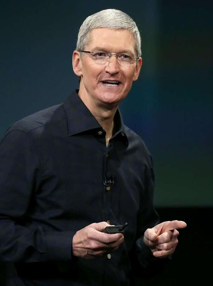 FILE - Apple CEO Tim Cook speaks during an Apple special event on October 16, 2014 in Cupertino, California. Photo: Justin Sullivan