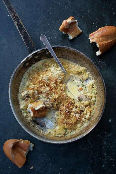 """Oyster Pan Roast from """"Jon Bonnell's Waters Fine Coastal Cuisine"""" by Jon Bonnell. Photo: Courtesy Jon Bonnell"""