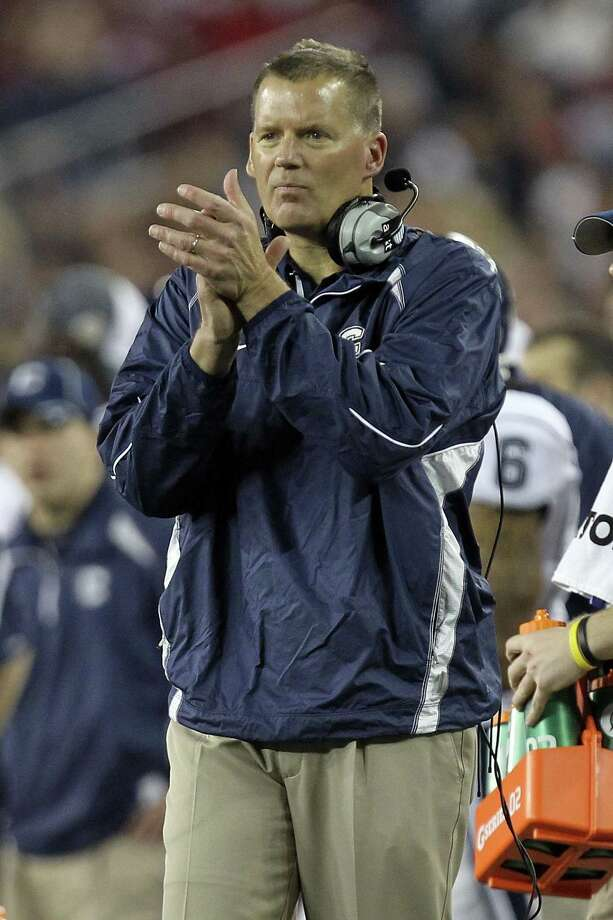 UConn football coach Randy Edsall lost offensive line coach JB Grimes Wednesday, and earlier lost offensive coordinator Rhett Lashlee. Photo: Ronald Martinez / Getty Images / 2011 Getty Images