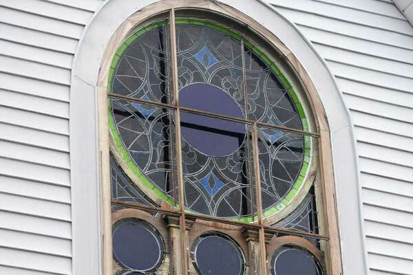 Canaan Institutional Baptist Church in South Norwalk. Funding for the former synagogue's historic facade was on the agenda at the Redevelopment Agency's special meeting on Tuesday and the church has received funding for stained glass repairs.
