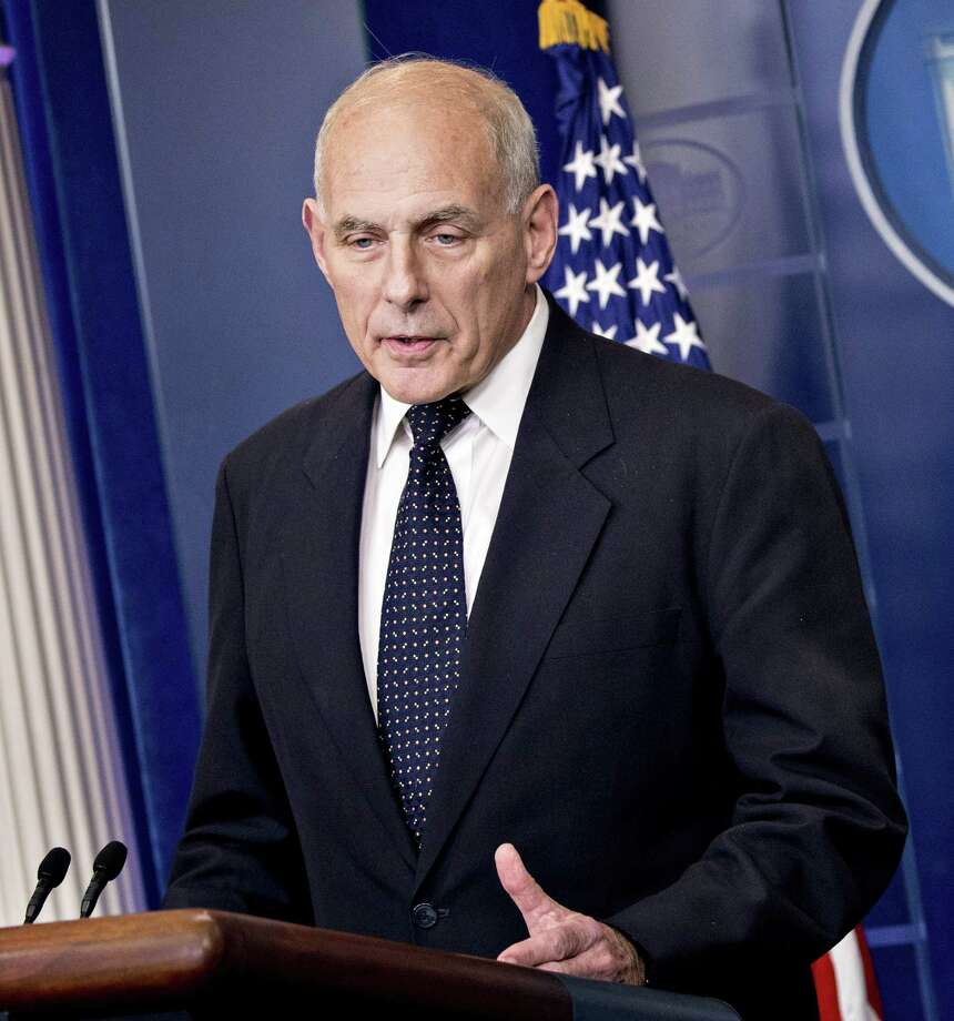 "White House Chief of Staff John Kelly, seen here in October, told members of the Congressional Hispanic Caucus and House Minority Whip Steny Hoyer on Wednesday that ""the president is committed to a permanent solution to DACA."" Photo: Bloomberg Photo By Andrew Harrer / Bloomberg"