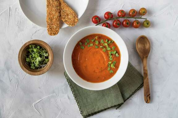 Dairy-Free Creamy Tomato Soup by Houston cooking writer and instructor Marcia Smart.
