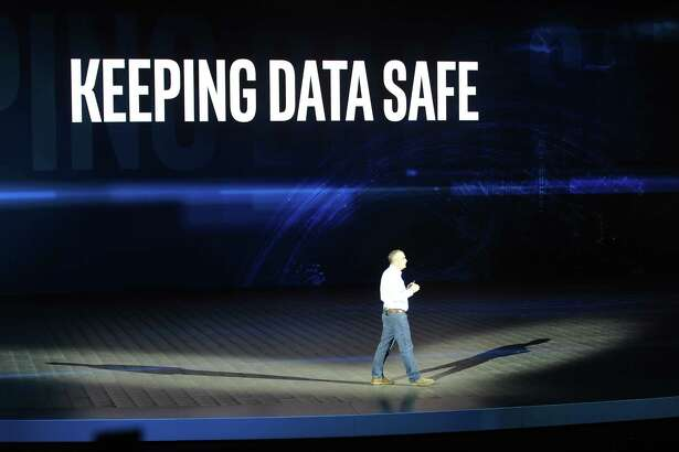 The CEO of Intel, Brian Krzanich, speaks onstage at the CES technology fair Las Vegas on Jan. 9, 2018. Initially, he responded to the industry-wide efforts to close the chip security gap which also concern the intel processors. (Andrej Sokolow/DPA/Zuma Press/TNS)