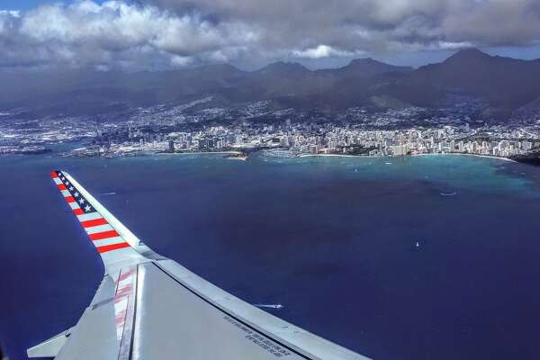 Virgin America's flashy brand will start to fade away in April. Pictured here: A Virgin America Airbus A321 taking off from Honolulu enroute to SFO