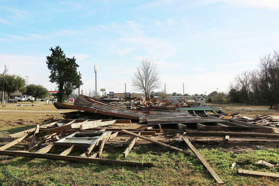 An entire row of homes are gone after being razed to the ground by the city. The Hurricane Harvey damage was too much to recover from for these families. Photo: David Taylor /Houston Chronicle