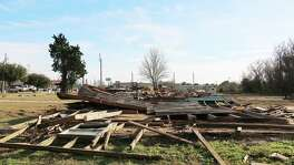 An entire row of homes are gone after being razed to the ground by the city. The Hurricane Harvey damage was too much to recover from for these families.