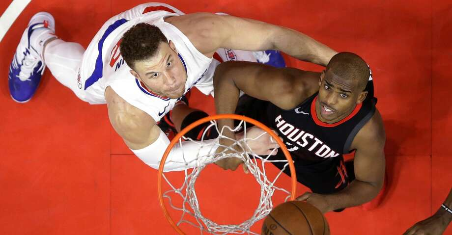 PHOTOS: Clippers 113, Rockets 102Los Angeles Clippers forward Blake Griffin, left, and Houston Rockets guard Chris Paul wait for a rebound during the second half of an NBA basketball game, Monday, Jan. 15, 2018, in Los Angeles. The Clippers won 113-102. (AP Photo/Mark J. Terrill)Browse through the photos to see action from the Rockets' loss to the Clippers on Monday night. Photo: Mark J. Terrill/Associated Press