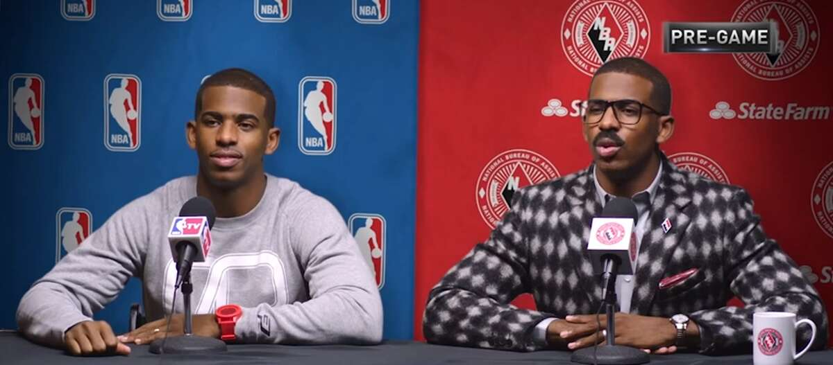"""Chris Paul (left) is a professional basketball player who may or may not have led his current team (the Houston Rockets) through a secret tunnel to fight his former team (the Los Angeles Clippers) on Monday night. Cliff Paul (right) is Chris' twin brother from those old State Farm commercials, who may or may not be real.Browse through the photos for the best reactions to the Rockets-Clippers """"secret tunnel"""" incident."""