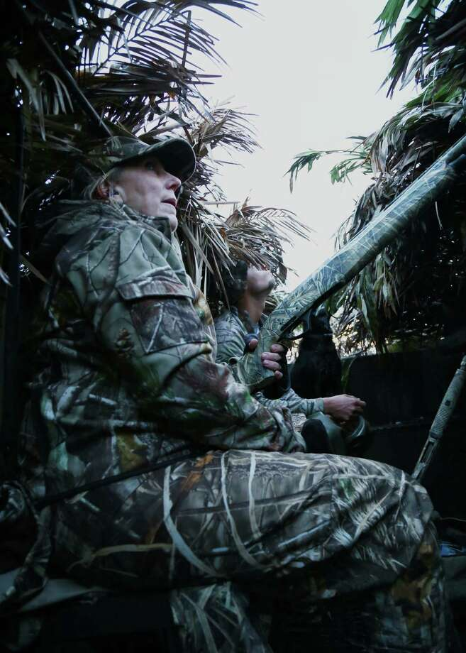 Excellent concealment and a lack of movement, always crucial for waterfowlers' success, are particularly important during the final couple of weeks of duck season when birds are at their wariest. Photo: Shannon Tompkins