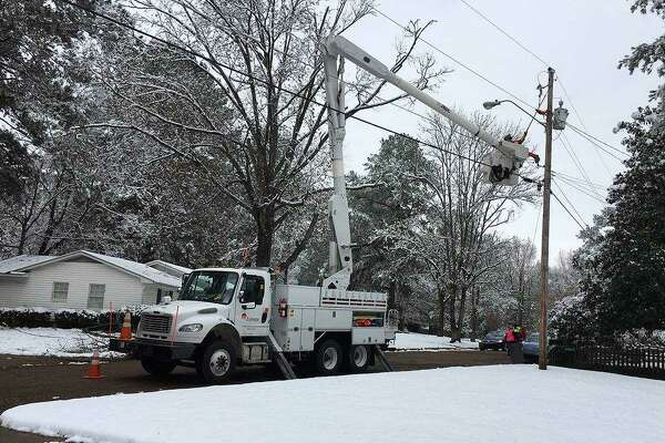 Entergy crews have been out restoring power during the latest winter blast by Mother Nature.
