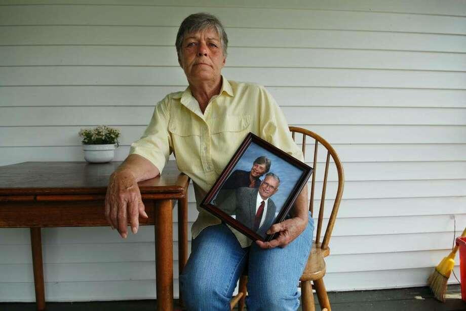 Florence Moll was upset when St. Peter's Church would not allow a U.S. flag atop her husband's casket. (Paul Buckowski / Times Union) Photo: PAUL BUCKOWSKI / 00004815A