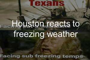 Scroll ahead to see how Houston reacted to freezing weather.