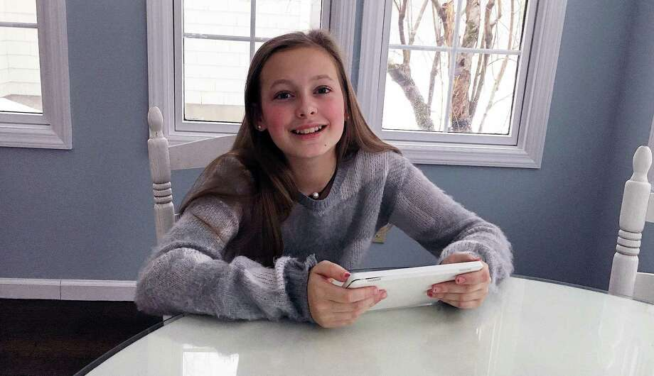 Fairfield 11-year-old Katie Reddy at her home Jan. 16, 2017. Photo: Contributed / Contributed Photo / Westport News