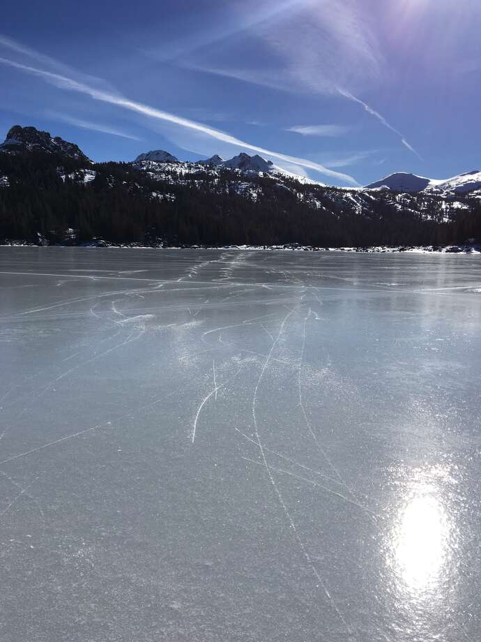 Ice skating on Caples Lake, Dec. 2017 Photo: Tyler Dill