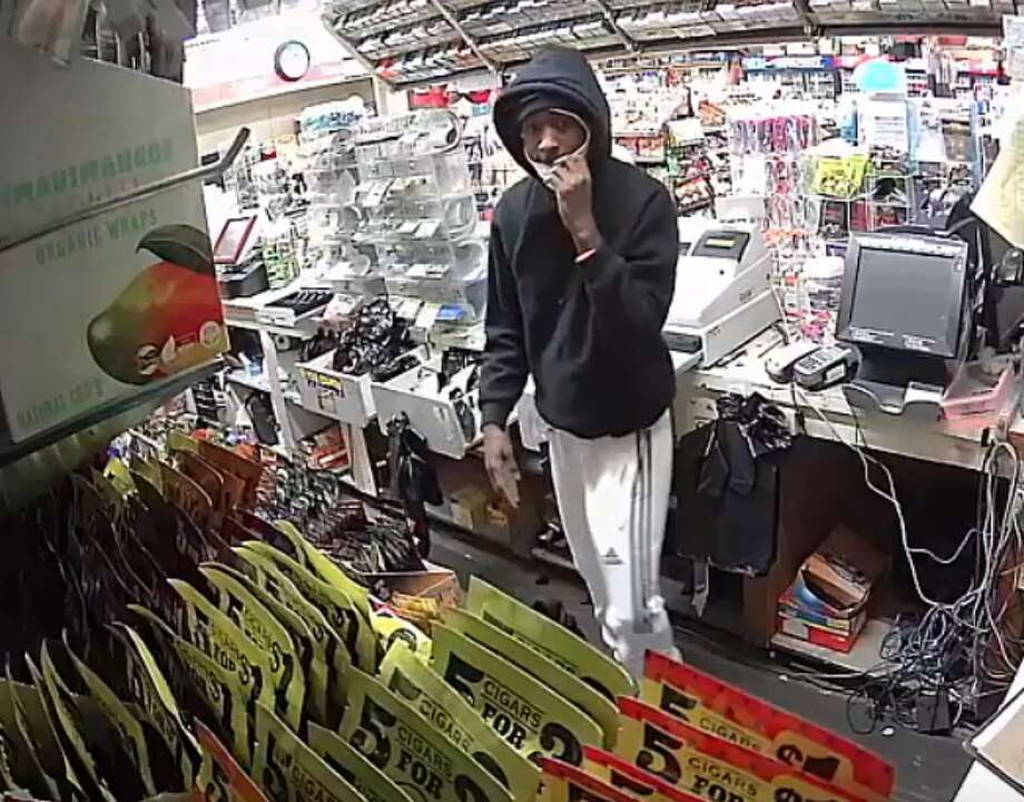 The Houston Police Department is searching for two male suspects accused of stealing cigarettes and money from a Harry's Food Mart in the 10800 block of Telephone Road. One suspect is accused of striking a customer in the store. Photo: Houston Police Department