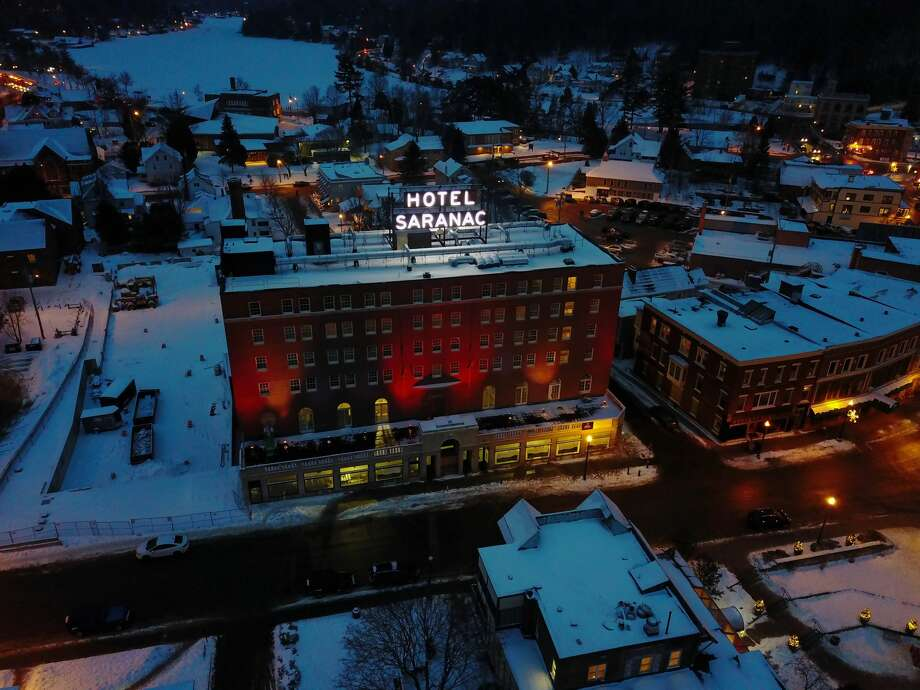 Exterior view of the newly renovated Hotel Saranac in Saranac Lake, NY. Photo: Provided By Hotel Saranac