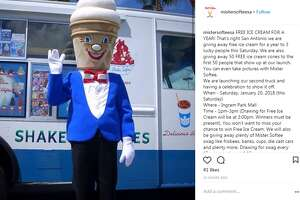 "@mistersofteesa : ""FREE ICE CREAM FOR A YEAR! That's right San Antonio we are giving away free ice cream for a year to 3 lucky people this Saturday. We are also giving away 50 FREE ice cream cones to the first 50 people that show up at our launch. You can even take pictures with Mister Softee.  We are launching our second truck and having a celebration to show it off.  When - Saturday, January 20, 2018 (this Saturday)  Where - Ingram Park Mall  Time - 1pm-3pm (Drawing for Free Ice Cream will be at 3:00pm. Winners must be present). You won't want to miss your chance to win Free Ice Cream. We will also be giving away plenty of Mister Softee swag like frisbees, banks, cups, die cast cars and plenty more. Drawing for swag every 15 mins starting at 1:15pm.  Saturday 1-3 at the newly remodeled Ingram Park Mall. We will be at the main entrance right outside JC Penny (we will post a diagram for location tomorrow). For all the other businesses, churches and communities that reached out to us for this event, we will be calling you to see if we can come out and see y'all."""