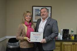 Investment Center Plainview was named the Plainview Chamber of Commerce's Business of the Month for January 2018. Pictured here are Denise Smith and John Bertsch.