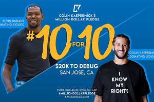 Colin Kaepernick and Kevin Durant will each donate $10,000 to Silicon Valley De-Bug.