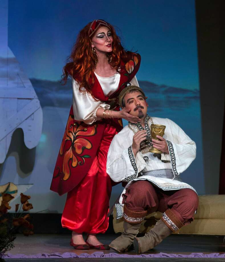 "Silvie Jensen and Igor Vieira in ""Kashchey the Immortal,"" on a Rimsky-Korsakov double bill at Alameda's Island City Opera. Photo: William A. Porter"