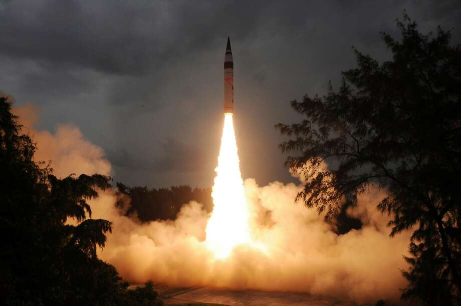 India's nuclear-capable ballistic missile Agni-V successfully test fired