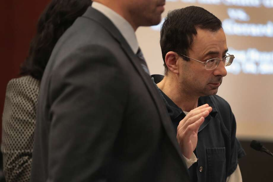 "Dr. Larry Nassar, the former national team doctor for USA Gymnastics accused of sexually assaulting at least 50 women, was derided in court after penning a letter to the judge that listening to victims statements was ""detrimental to his mental health."" Photo: Scott Olson/Getty Images"