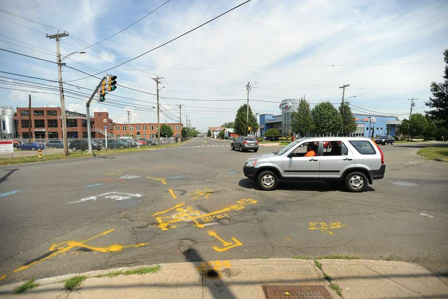 The intersection of Stratford Avenue, South Avenue, and Honeyspot Road next to the Two Roads Brewing Company, site of a planned roundabout in Stratford, Conn. on Tuesday, July 29, 2015. Photo: Brian A. Pounds / Hearst Connecticut Media / Connecticut Post