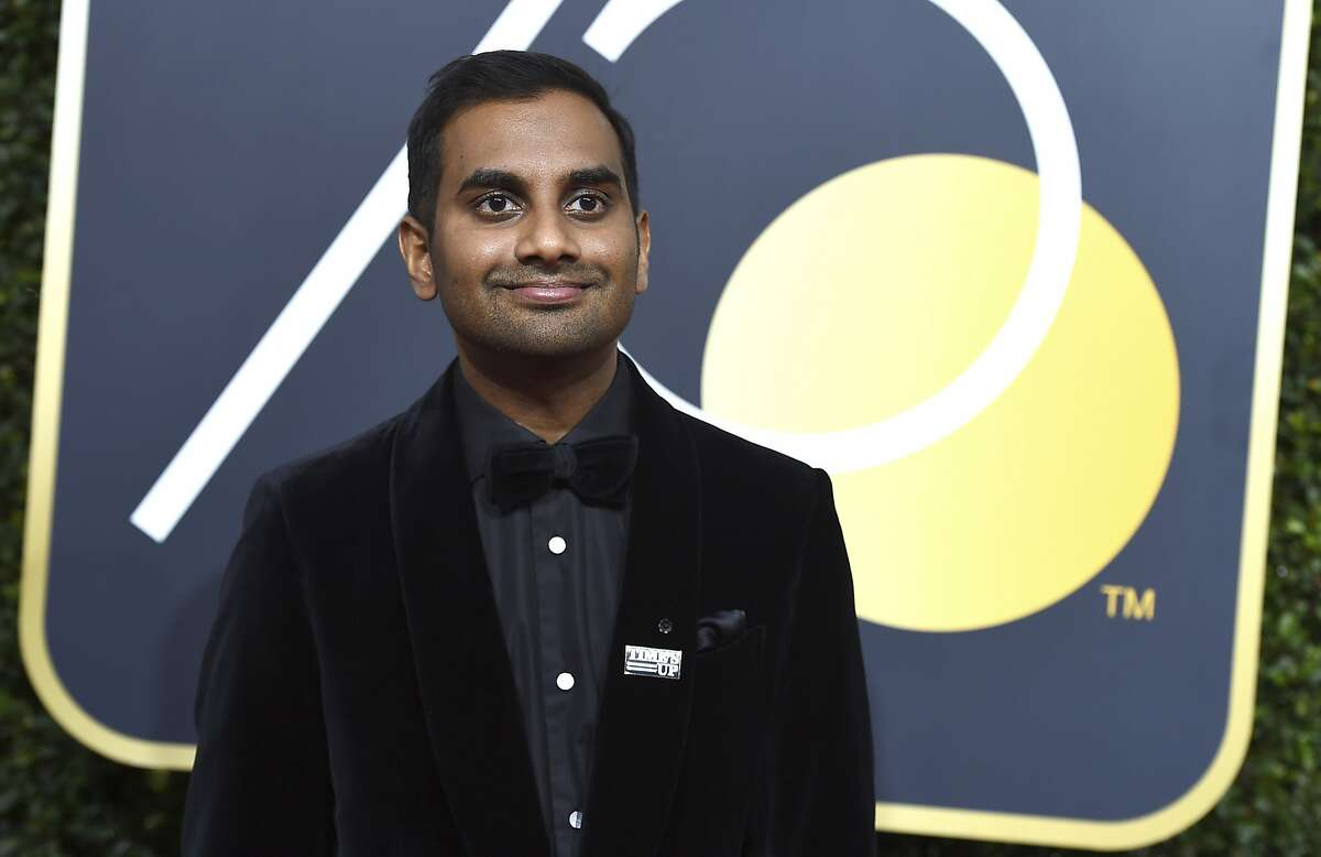 In this Sunday, Jan. 7, 2018 file photo, Aziz Ansari arrives at the 75th annual Golden Globe Awards in Beverly Hills, Calif. He did not attend Sunday's SAG Awards.