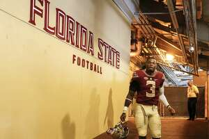 TALLAHASSEE, FL - DECEMBER 2: Defensive Back Derwin James #3 of the Florida State Seminoles leaves the locker room to the field before the game against the Louisiana Monroe Warhawks at Doak Campbell Stadium on Bobby Bowden Field on December 2, 2017 in Tallahassee, Florida. Florida State defeated Louisiana Monroe 42 to 10. (Photo by Don Juan Moore/Getty Images)